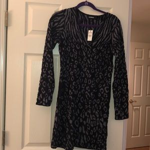 New with tags Express sweater dress animal print